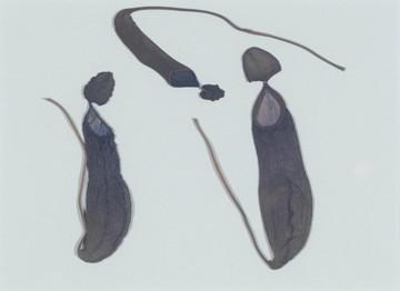Drei Hirschkühe, 2013, Collage auf Karton 30x40 cm